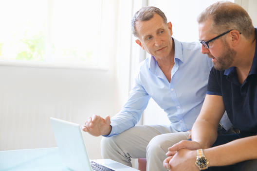Two Business Men Having Meeting