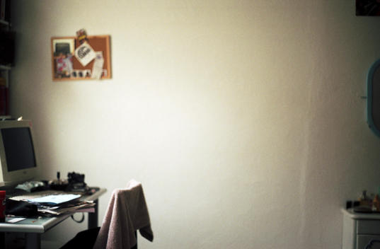 An empty home office.