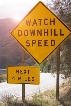Watch Downhill Speed signs