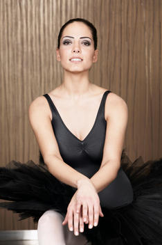 Portrait of a female ballet dancer
