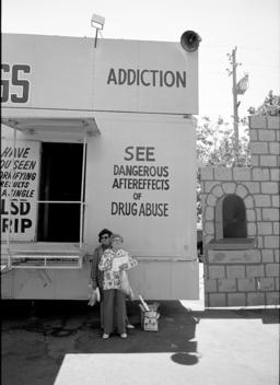 Senior Women Outside Drug Sideshow. St. Augustine, Florida, United States.