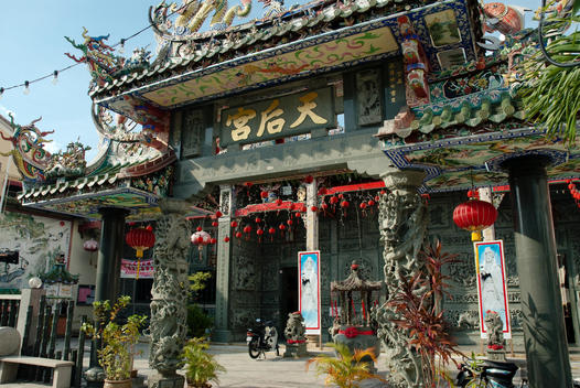 Exterior Of Chinese Temple In Colonial Georgetown