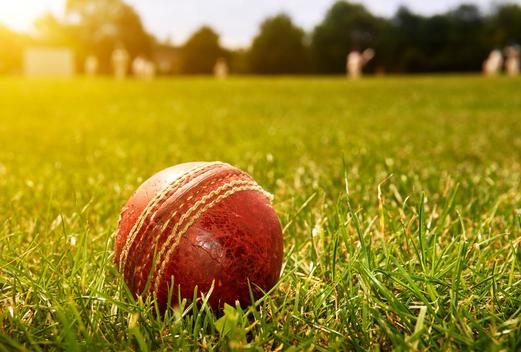 cricket match with ball