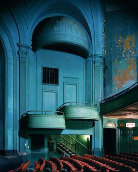 Empty Theater Box Seats, Times Square, Ny