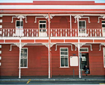 Red Colonial Building
