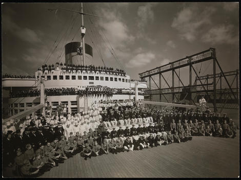 Group Portrait Of The Staff And Crew Of The S.S. \