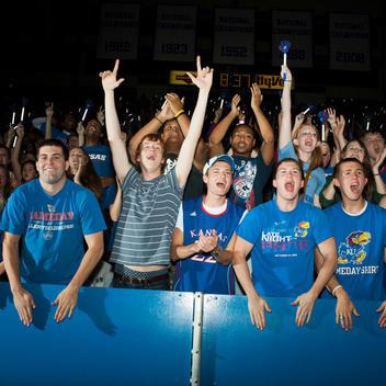 Kansas University Midnight Madness basketball game