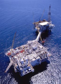 Oil rig on the ocean