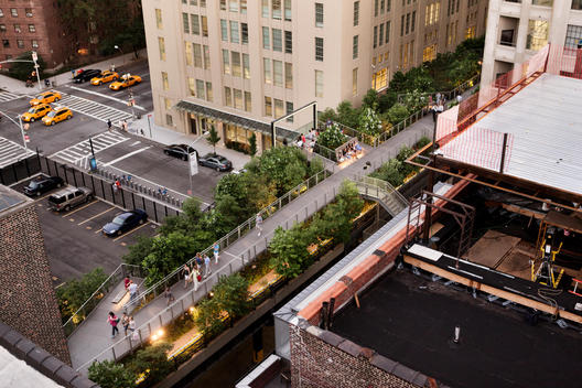 Areal photo of the High Line in Manhattan