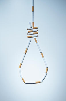 Hangman\'s knot made out of cigarettes