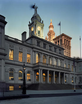 New York City Hall At Dusk
