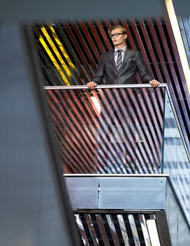 A Business Man Stands On A Loft Viewing Out