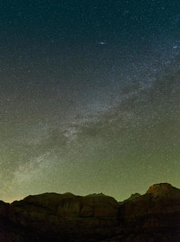 Stars of the Milky Way in the night sky