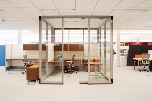 A Modular Office On Display At The Corporate Headquarters Of An Office Furniture Design And Manufacturing Company