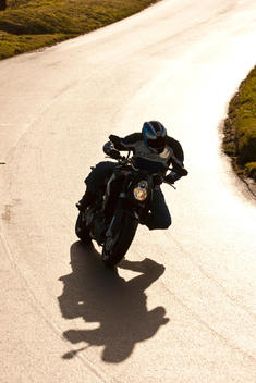 Motorcyclist Cornering