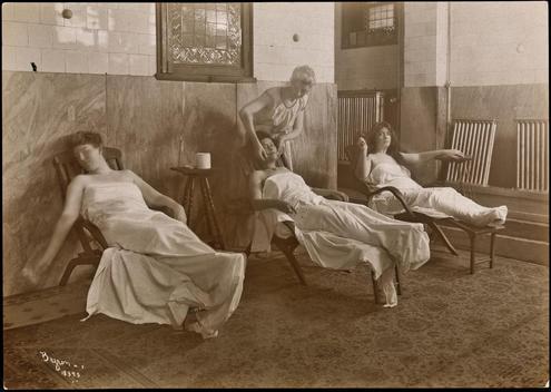 Three Women Reposing In A Turkish Bath.