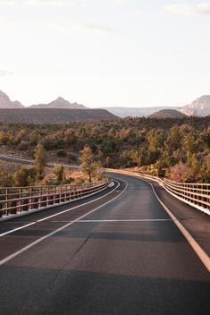 Road Winding Through The Sonoran Desert In Sedona, Arizona, Usa.