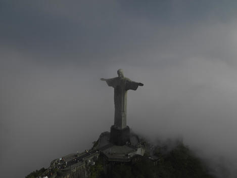 arial view of Christ the Redeemer