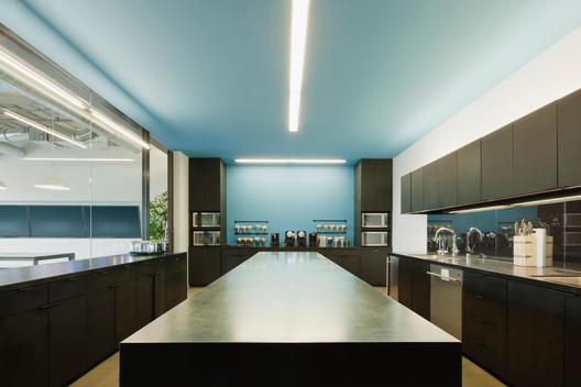 Empty kitchen in office