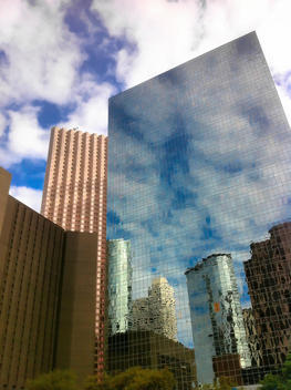 Skyscrapers and modern architecture in downtown Houston, Texas, USA