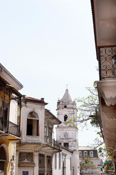 colonial building in Casco Viejo in Panama City