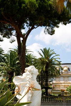 Classical Statue Of The Primavera In Garden.