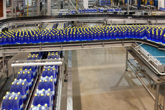 A drinks bottling plant in Estonia