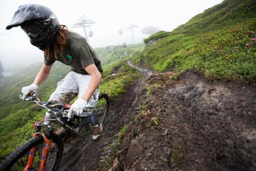 Downhill Mountain Biker