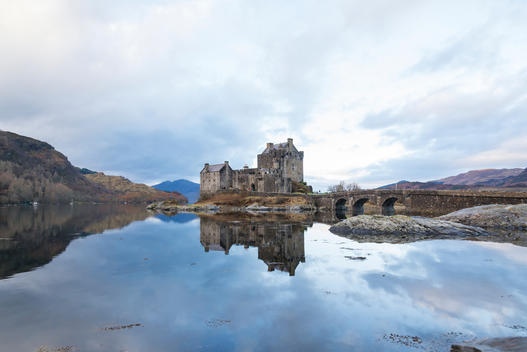 A view towards Eilean Donan Castle