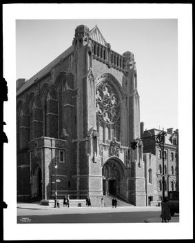 Lexington Avenue And 66Th Street. Roman Catholic Church. St. Vincent Of Ferrer, General Exterior Of Front.