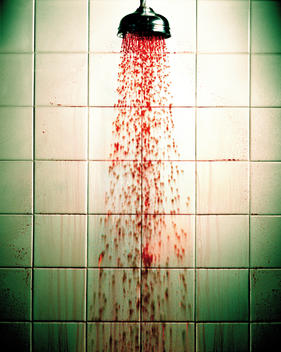 Blood Spraying From Shower Head