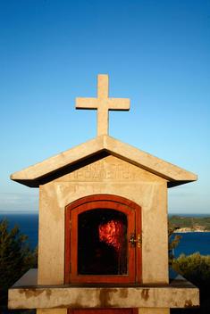 Christian Cross Roadside Monument