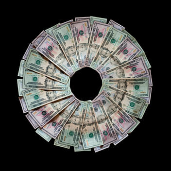 Money in a circular pattern