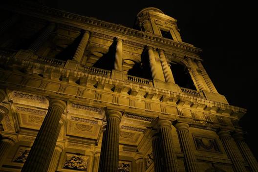 Classical Façade At Light