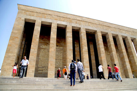 Visitiors are at the sacred place of founder of modern Republic of Turkey in Ankara