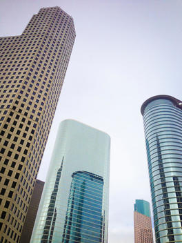 Modern Architecture with skyscrapers in Downtown Houston, Texas, USA