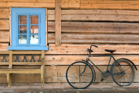 Free Image: Wooden House and Bicycle | Libreshot Public Domain Photos