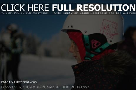 Little Girl in a Ski Helmet | Free Images For Commercial Use