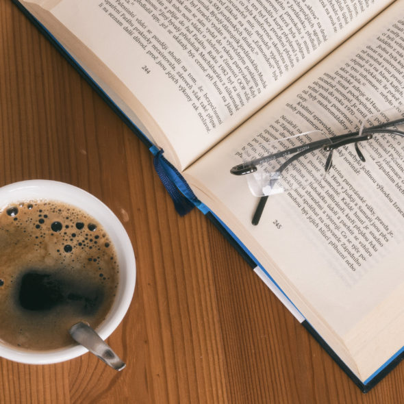 Book, Coffee And Glasses