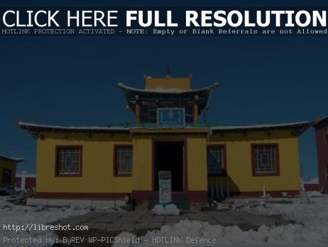 Buddhist Temple in Mongolia