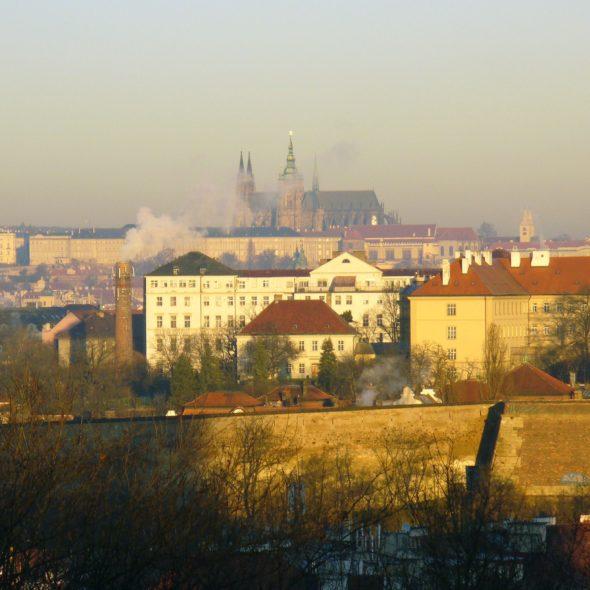 Prague Castle in Smoke