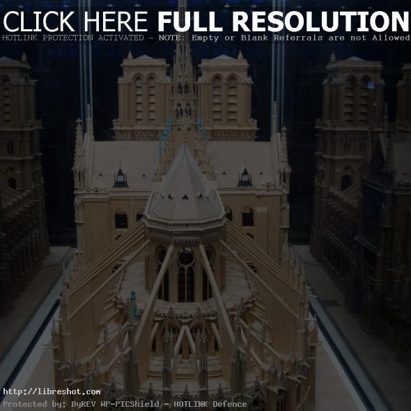 Model of Cathedrale Notre Dame de Paris