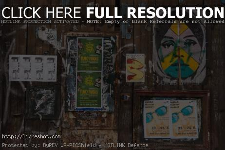 Free image of Street Wall With Posters