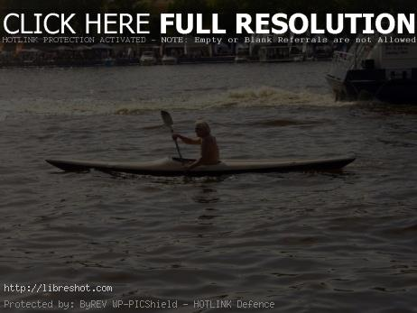 Man on kayak