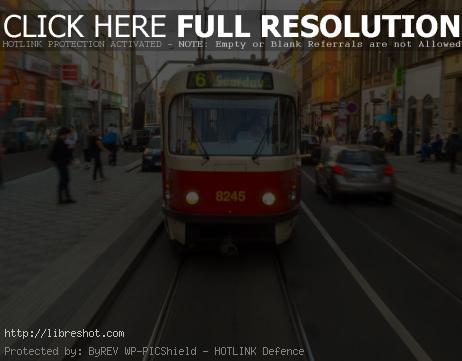 Tramway in Prague