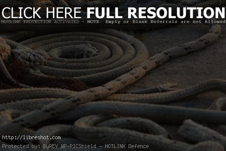 Ropes on Fishing Ship | Free Images For Commercial Use