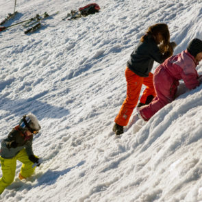 Playing Children On The Snow