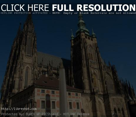 Saint Vitus Cathedral In Prague Castle