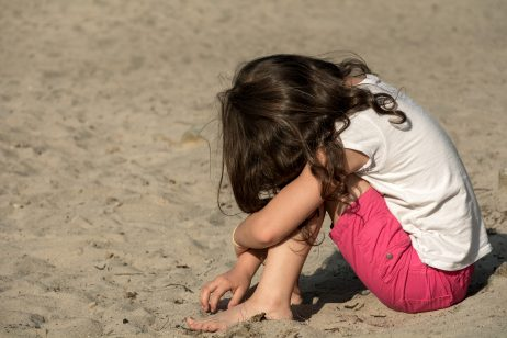 FREE IMAGE: Small sad girl on the beach | Libreshot Public Domain Photos