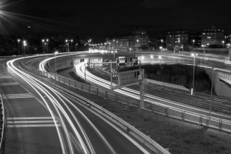 Free image of The Car Light Trails in the City